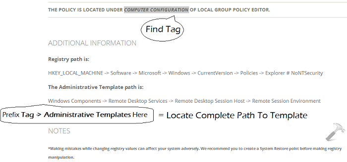 The Group Policy Information on Site